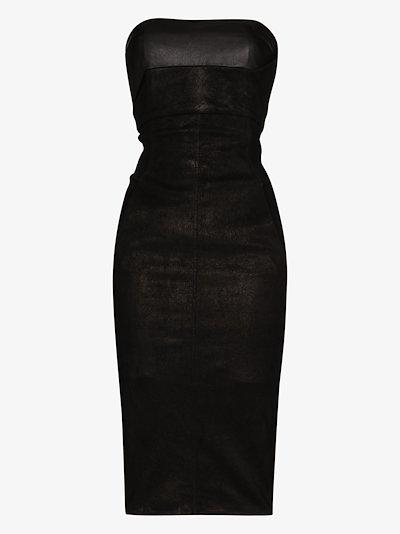 suede bustier dress