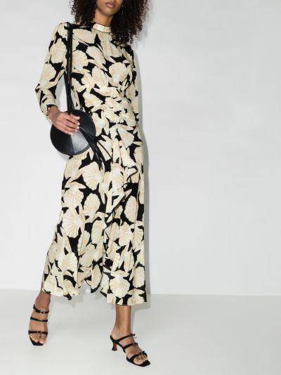 Dani shell print maxi dress