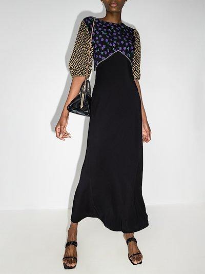 Delilah mix print midi dress