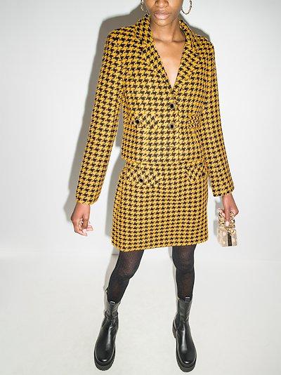 Leila dogtooth cropped blazer