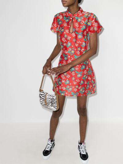 Lolita floral print mini dress