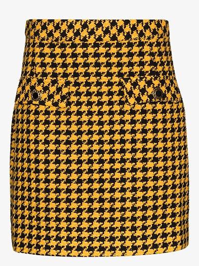 Mariah dogtooth mini skirt