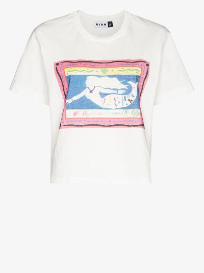 Ria Mermaid Postcard print T-shirt