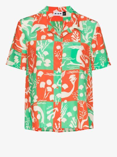 Rickie Sea Life printed silk shirt