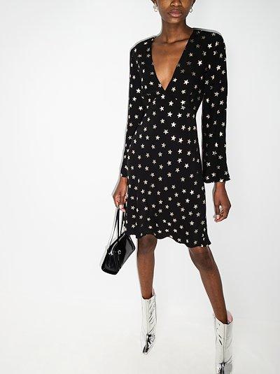 Sophie star print mini dress