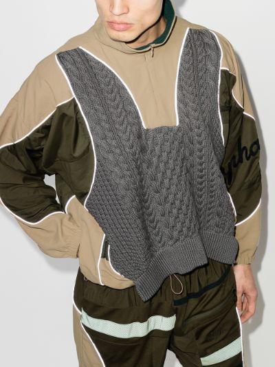 X Rapha panelled sweatshirt