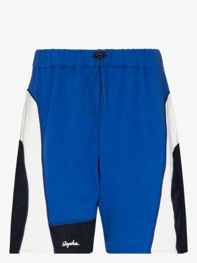 X Rapha panelled track shorts