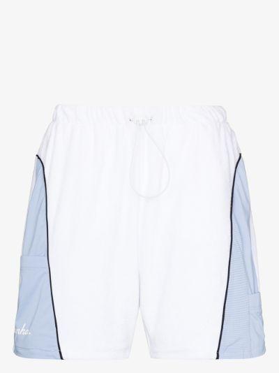 X Rapha terry cloth track shorts