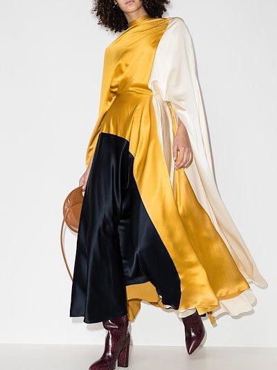 Andromeda colour block silk dress
