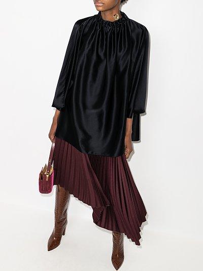 Ava draped silk blouse