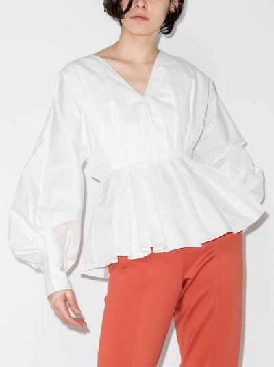 Colette cotton peplum blouse