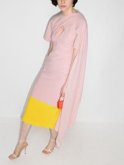 Elin two tone scarf dress