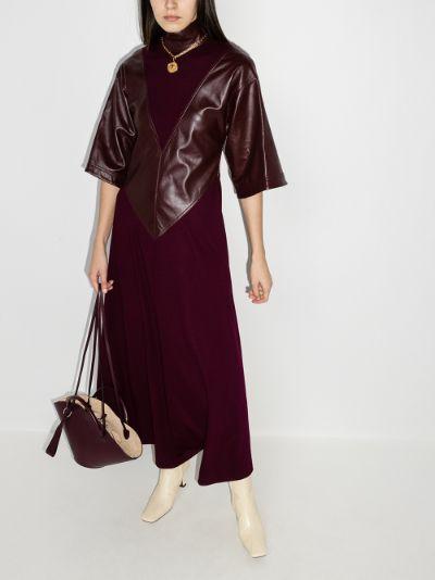 Erdea panelled wool dress