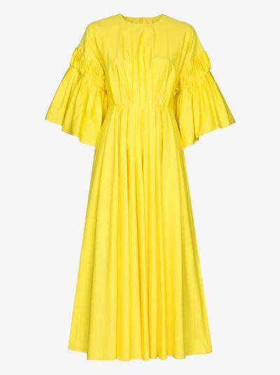 Iosefina gathered cotton midi dress