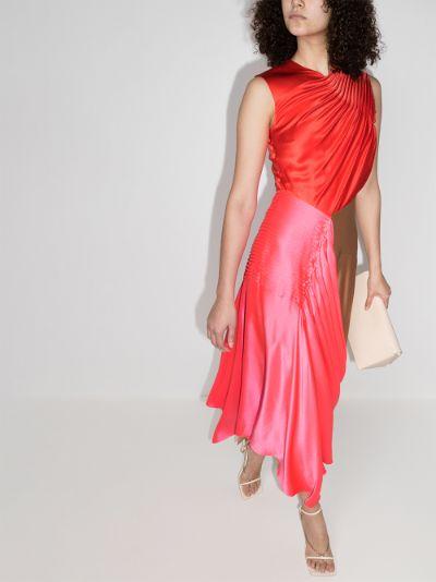 Iris Draped Silk Dress