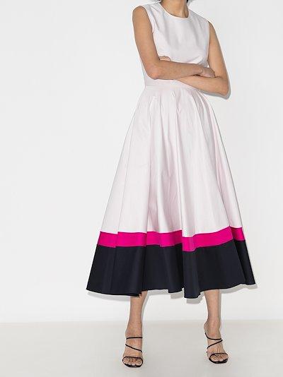 Ling flared midi dress