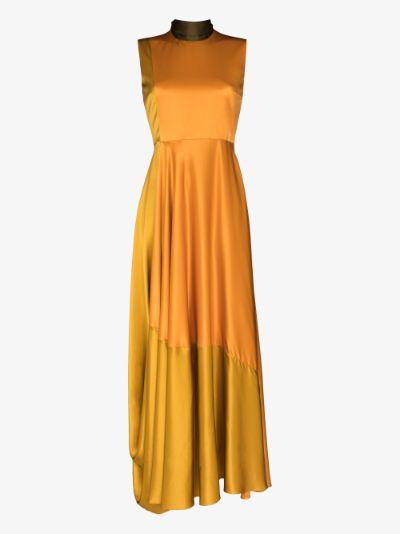Madlen silk flared gown