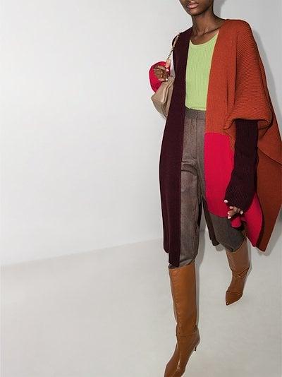 Noa asymmetric wool cape