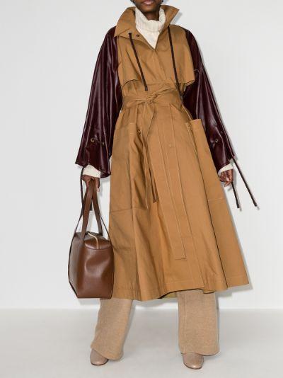Nova contrast sleeves trench coat