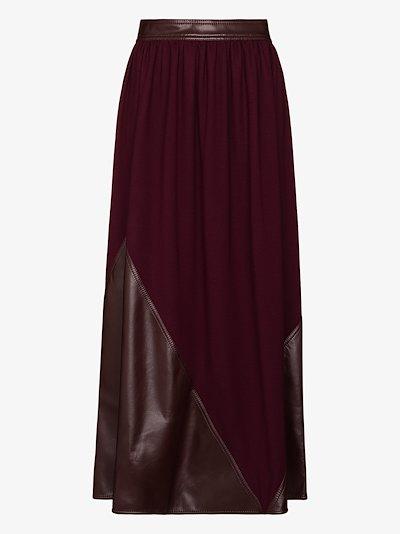 Pola panelled maxi skirt