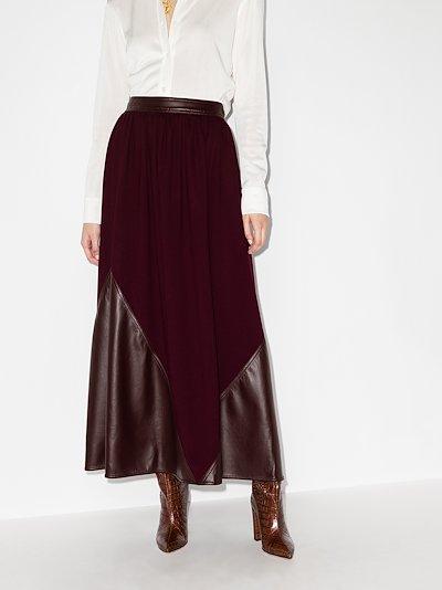Pola panelled midi skirt