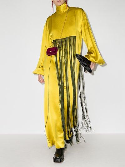 Zina silk maxi dress