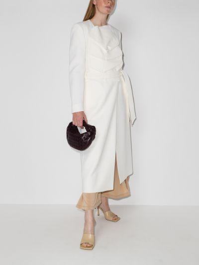 Edintore belted wool crêpe coat