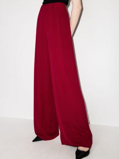 Kennal silk wide leg trousers
