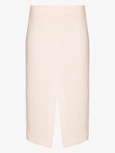 Moka straight midi skirt