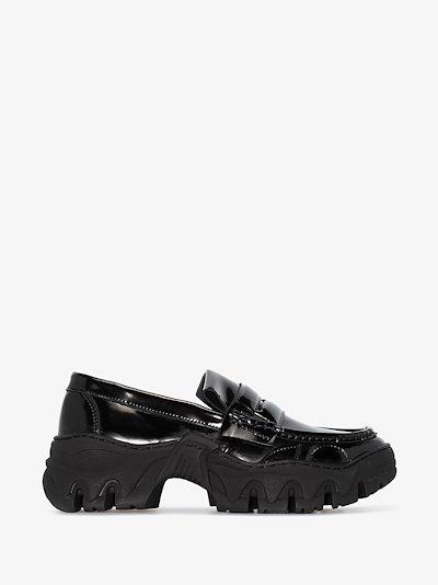 black Boccaccio II faux leather loafers