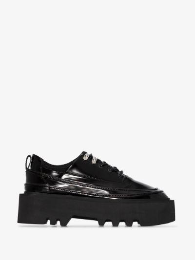 black olov elevator platform Derby shoes