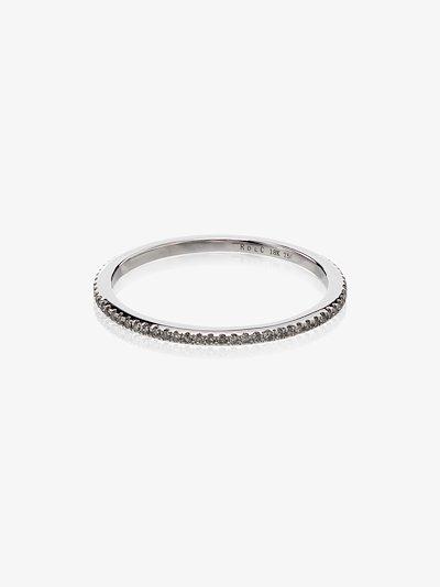 18K white gold diamond midi ring