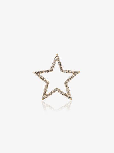 18K yellow gold diamond star pendant