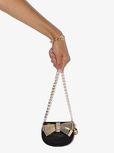 Black Betta embellished mini bag