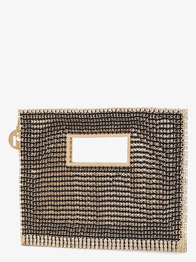 black Iside crystal clutch bag