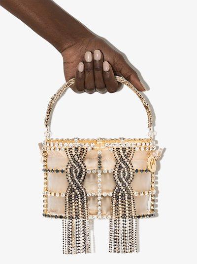 gold Holli Tresse crystal mini bag
