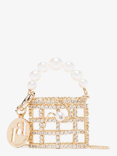 gold tone Baby Holli crystal mini bag