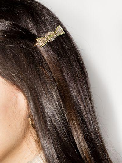 gold tone Chevron hair clip