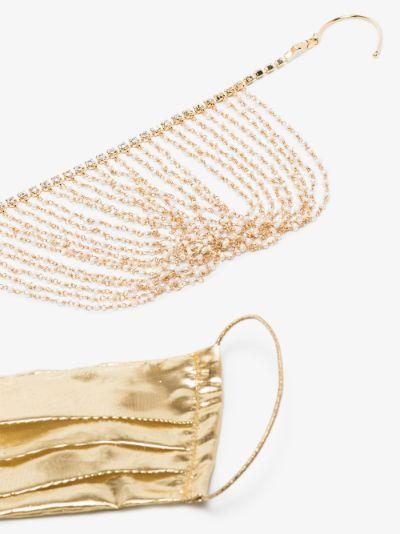 Gold tone embellished face mask