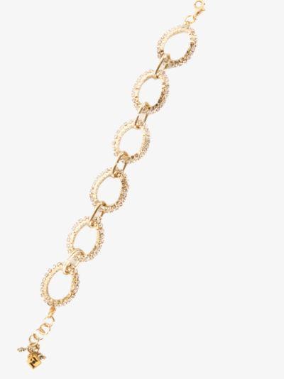 Gold Tone Link Crystal Bracelet