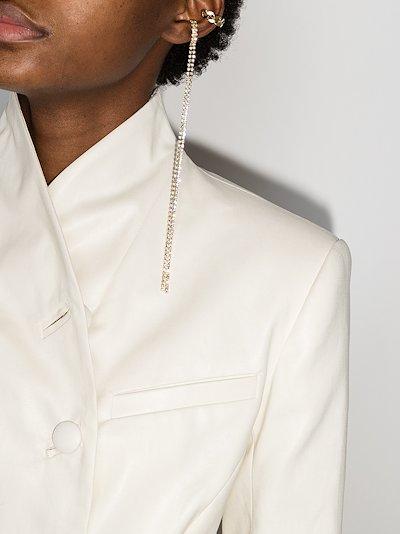 gold tone Madeleine crystal drop ear cuff