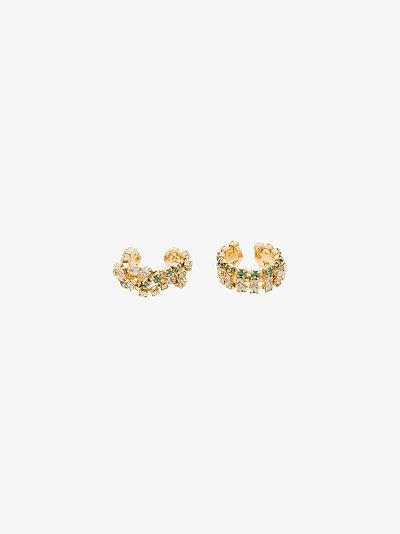 gold tone Madeleine crystal ear cuffs