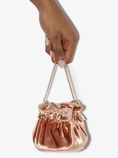 pink moneta velvet mini bag