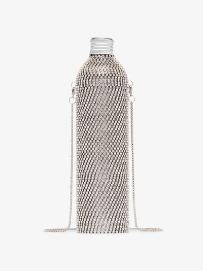 Silver tone crystal embellished water bottle