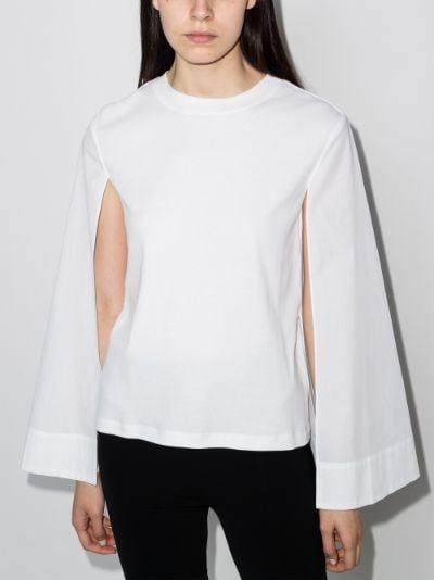 cape sleeve cotton top