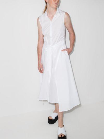 sleeveless cotton poplin shirt dress