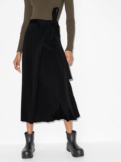 tie waist midi wrap skirt