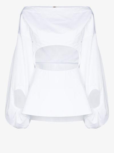 fig cutout cotton shirt