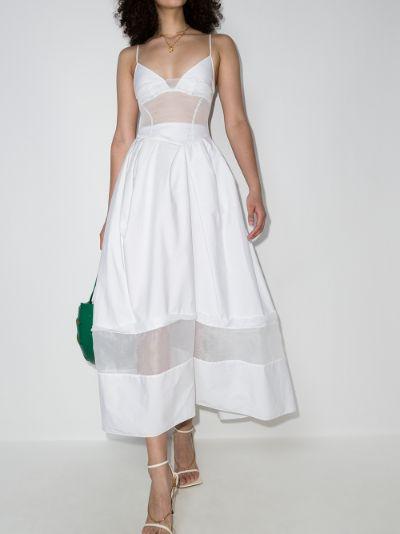 tulle panel dress