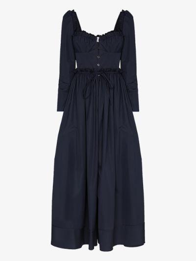 Winter Garden Party cotton midi dress